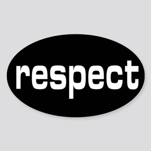respect Oval Sticker