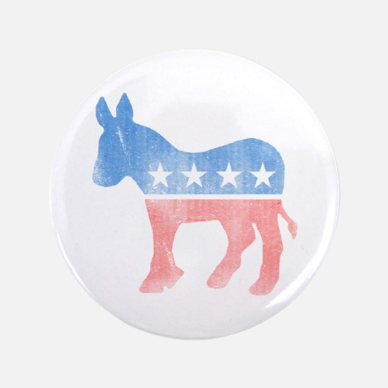 "Democratic Donkey 3.5"" Button (100 pack)"
