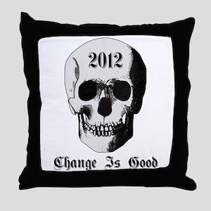 2012 Skull Throw Pillow