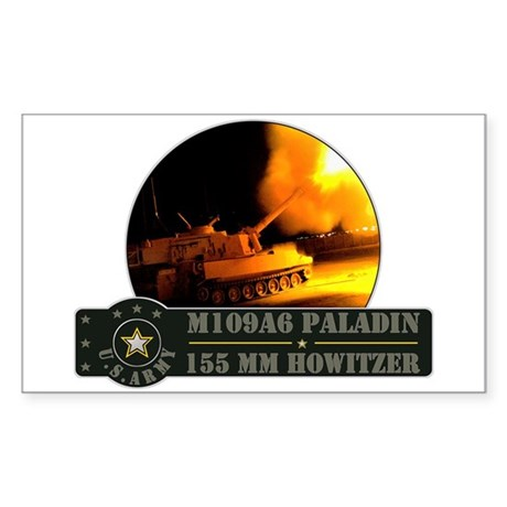 M109 Paladin Howitzer Sticker (Rectangle)