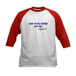 KEEP YOUR CRUMBS OFF ME! Kids Baseball Jersey