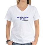 KEEP YOUR CRUMBS OFF ME! Women's V-Neck T-Shirt