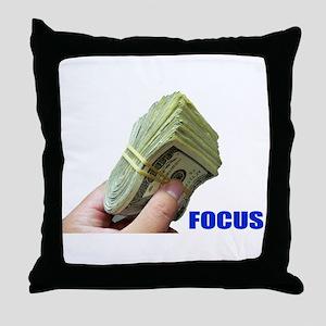 Focus on Money Throw Pillow