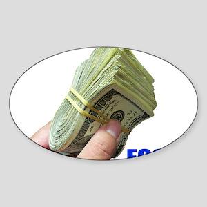 Focus on Money Oval Sticker