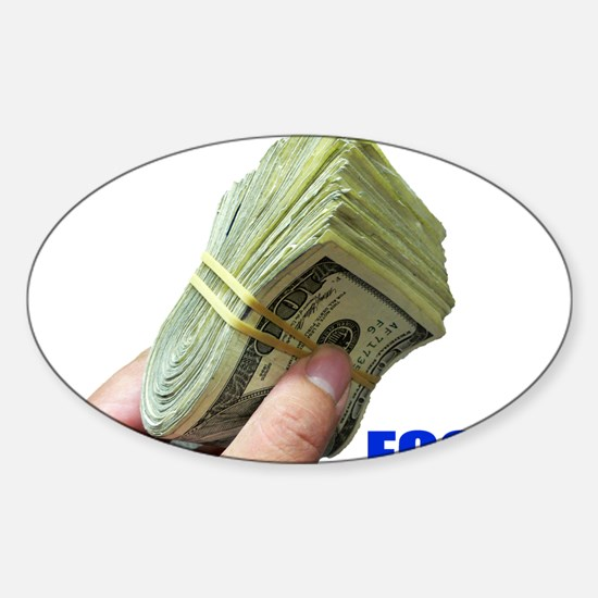 Focus on Money Oval Decal
