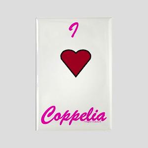 Heart Coppelia Rectangle Magnet