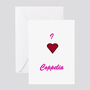 Heart Coppelia Greeting Card