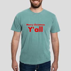 Merry Christmas Yall Mens Comfort Colors® Shirt