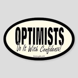 Optimists Oval Sticker