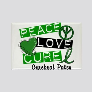 PEACE LOVE CURE Cerebral Palsy (L1) Rectangle Magn