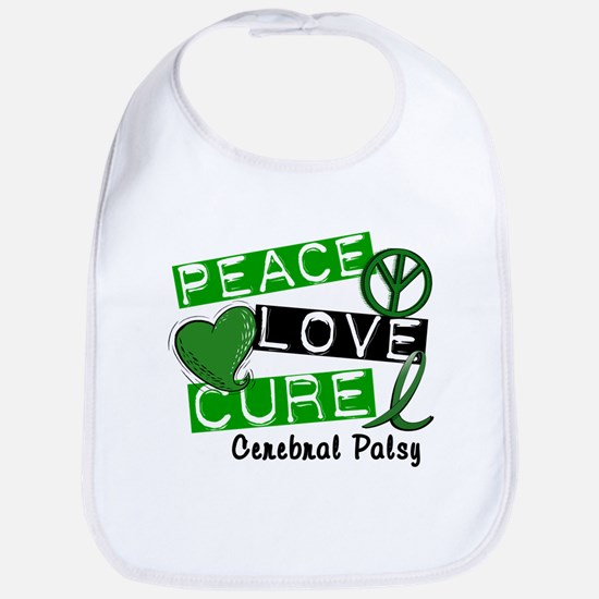 PEACE LOVE CURE Cerebral Palsy (L1) Bib