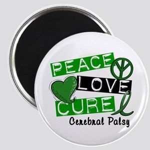 PEACE LOVE CURE Cerebral Palsy (L1) Magnet