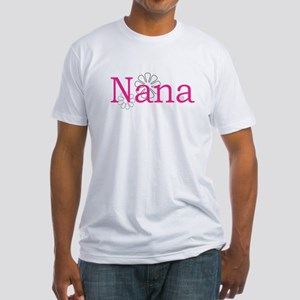 Nana Name Pink Fitted T-Shirt