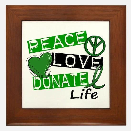 PEACE LOVE DONATE LIFE (L1) Framed Tile