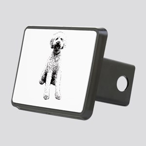Labradoodle Face Design - Rectangular Hitch Cover