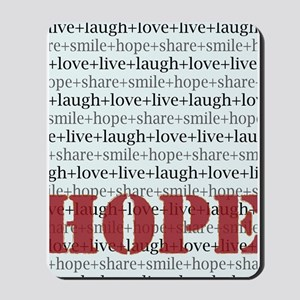 HOPE Inspirational Collage (red) Mousepad