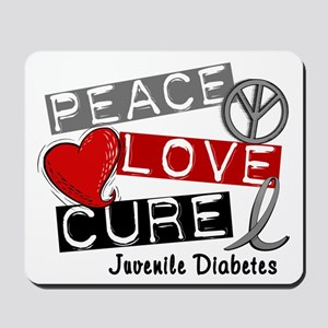 PEACE LOVE CURE Juv Diabetes (L1) Mousepad