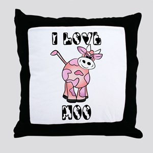 Moo Cow Love Throw Pillow