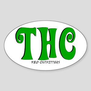 THC Oval Sticker
