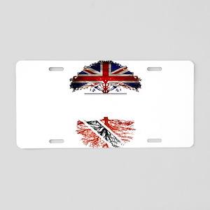 British Grown With Trinidad Aluminum License Plate