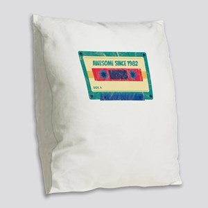 Awesome Since 1982 Cassette Ta Burlap Throw Pillow