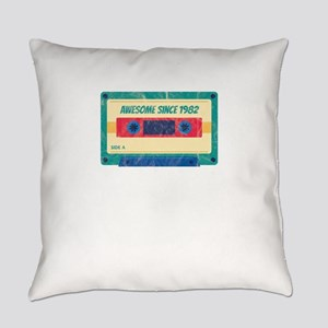 Awesome Since 1982 Cassette Tape R Everyday Pillow