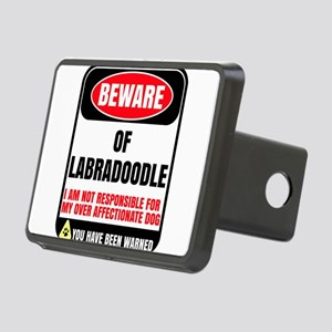 Beware of Labradoodle I Am Rectangular Hitch Cover