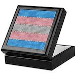 Transgender Denim Flag Keepsake Box