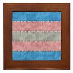 Transgender Denim Flag Framed Tile