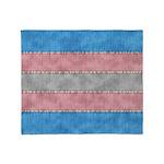 Transgender Denim Flag Throw Blanket