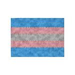 Transgender Denim Flag 5'x7'Area Rug