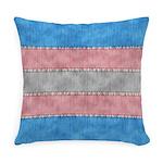Transgender Denim Flag Everyday Pillow