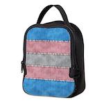 Transgender Denim Flag Neoprene Lunch Bag