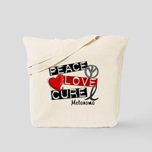 PEACE LOVE CURE Melanoma (L1) Tote Bag