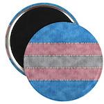 Transgender Denim Flag Magnet