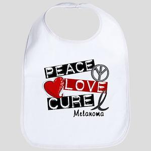 PEACE LOVE CURE Melanoma (L1) Bib