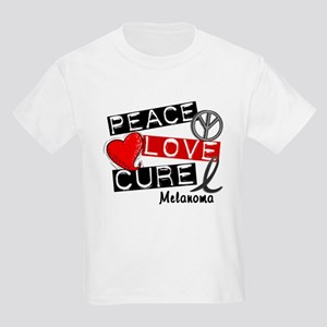 PEACE LOVE CURE Melanoma (L1) Kids Light T-Shirt