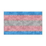 Transgender Denim Flag Rectangle Car Magnet