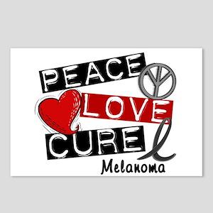 PEACE LOVE CURE Melanoma (L1) Postcards (Package o
