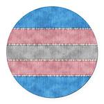 Transgender Denim Flag Round Car Magnet