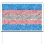 Transgender Denim Flag Yard Sign