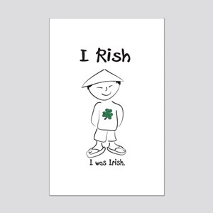 I rish I was Irish Mini Poster Print