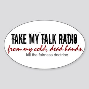 Anti-Fairness Doctrine Oval Sticker