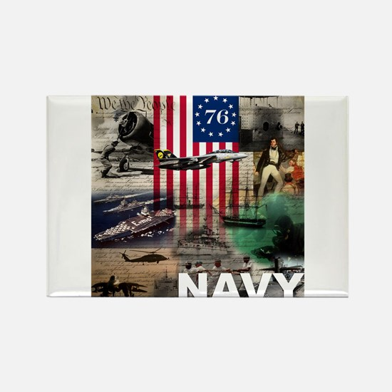 NAVY 1776 Rectangle Magnet
