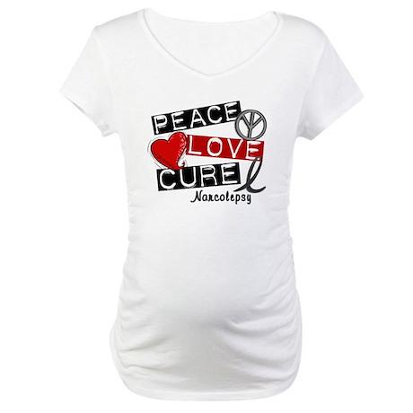 PEACE LOVE CURE Narcolepsy (L1) Maternity T-Shirt