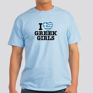 I Love Greek Girls Light T-Shirt