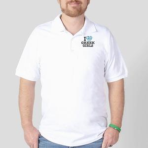 I Love Greek Girls Golf Shirt