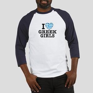 I Love Greek Girls Baseball Jersey