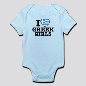 I Love Greek Boys Infant Bodysuit