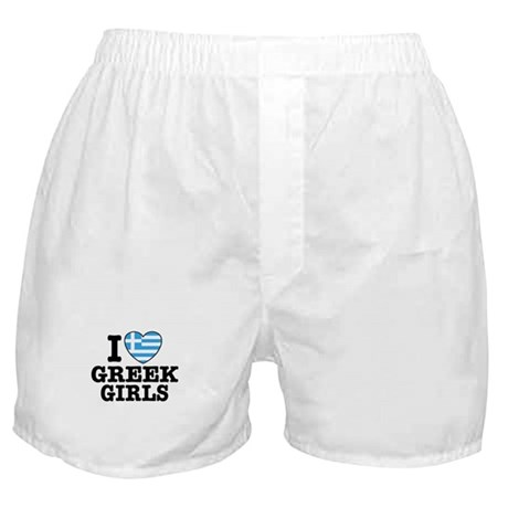 I Love Greek Girls Boxer Shorts